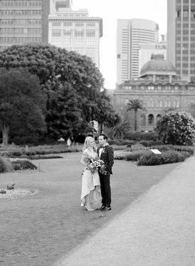 Modern Sydney Royal Botanic Gardens Wedding053