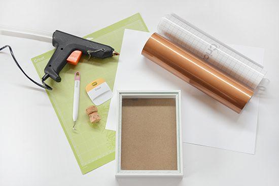 Cork Shadowbox Supplies