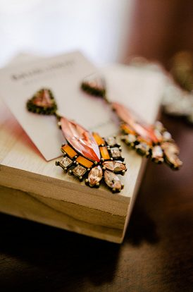 Orange Jewel Earrings