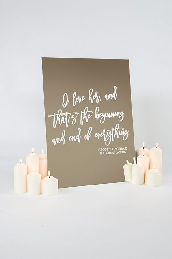Romantic wedding sign