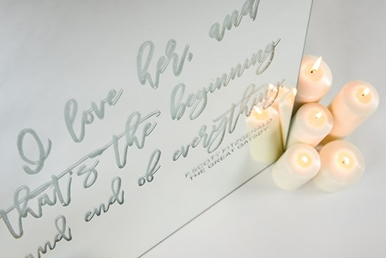 Romantic wedding sign ideas