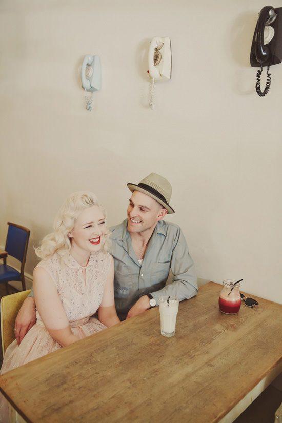 Vintage Fremantle Engagement Photos - Polka Dot Bride