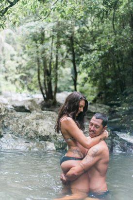 Romantic Currumbin Rock Pools Engagement - Polka Dot Bride