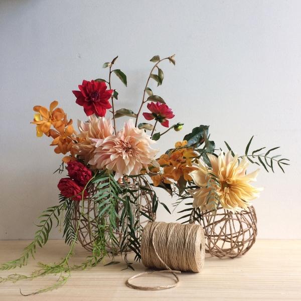 Rainy Sunday String Ball Vases