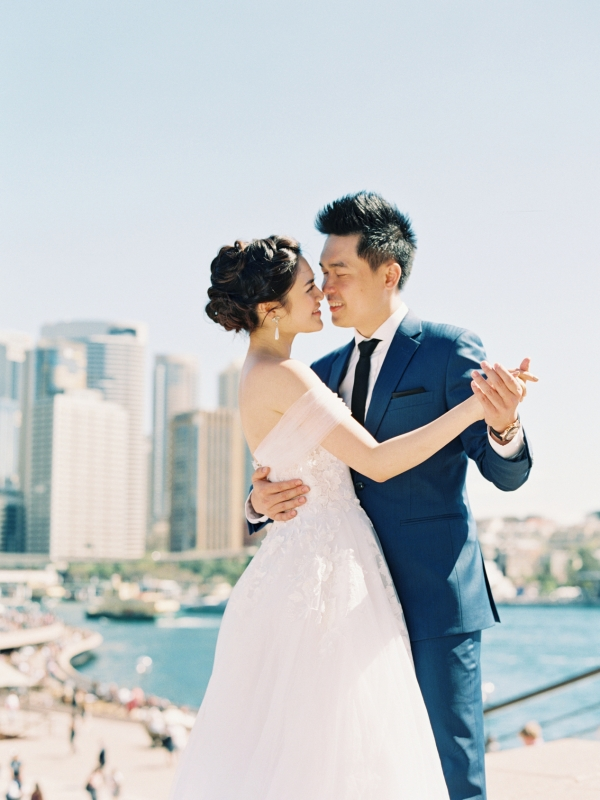Image by Amelia Soegijono Photography via Nghi and Henry's romantic Sydney Engagement