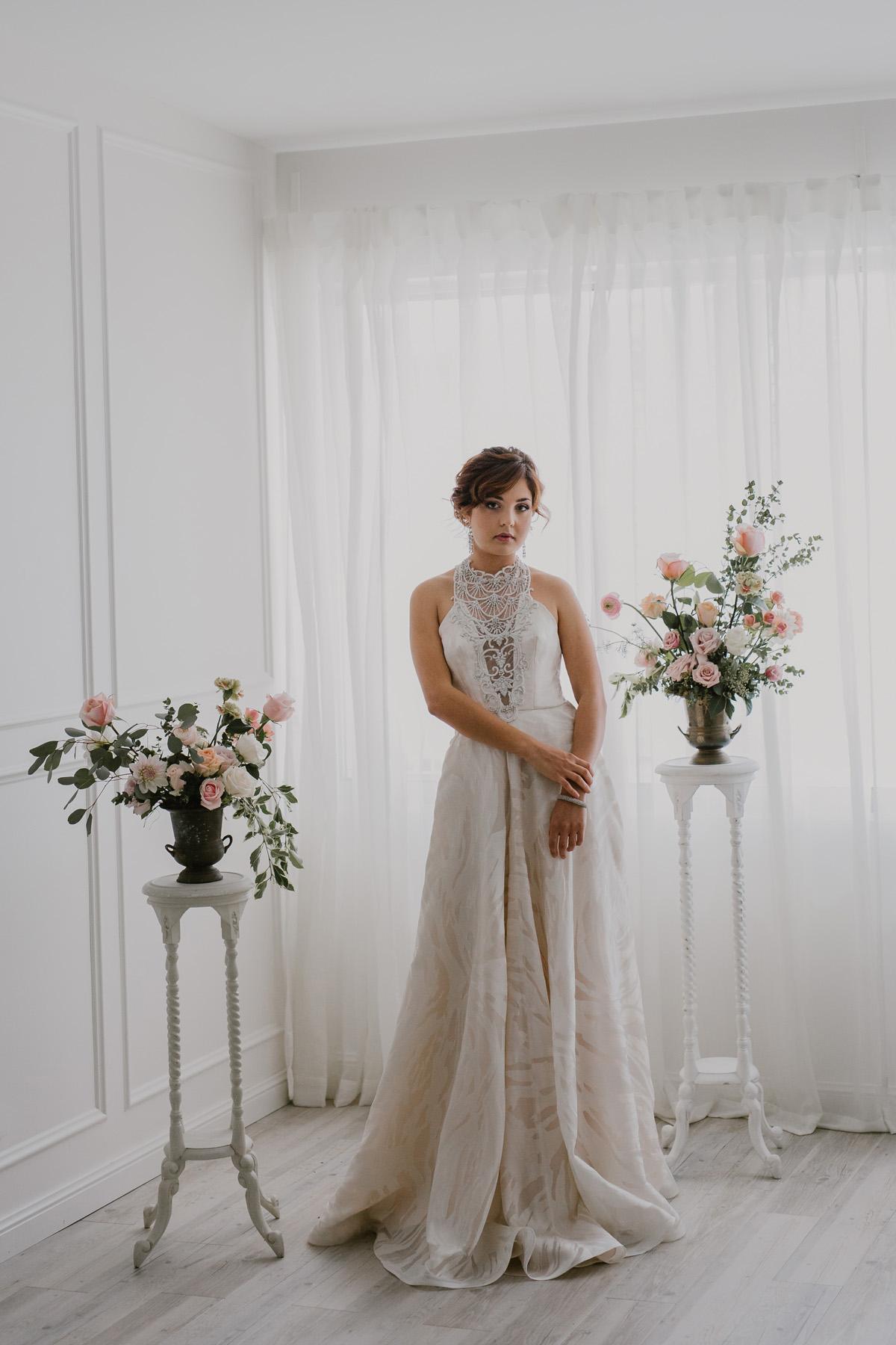 Vintage Flower Filled Wedding Inspiration Polka Dot Bride