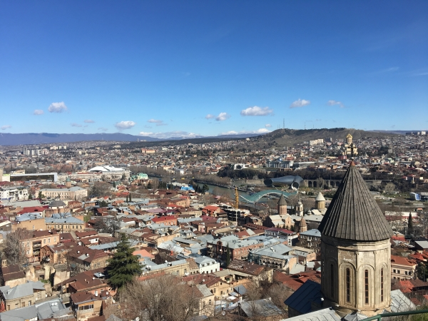 View from Mother of Tblisi. Image credit: Caz Pringle