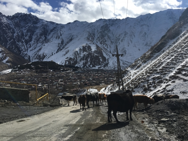 Locals on the road. Image credit: Caz Pringle
