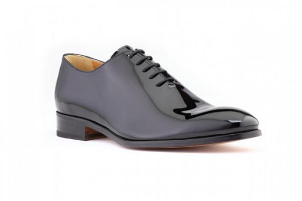 Ace Marks Wholecut Oxford Plain Toe Black Patent 2