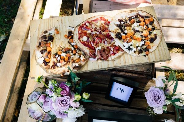 Pizza at wedding