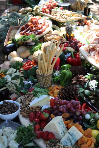 Wedding Antipasto grazing table by your private chef025