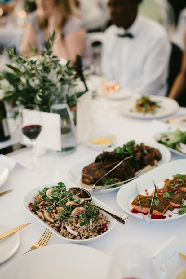 family style wedding meal
