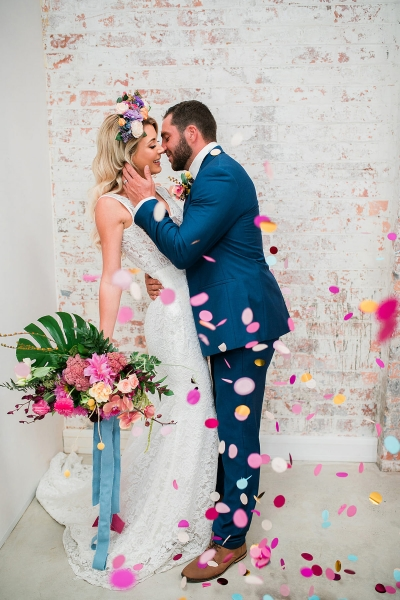 121198 colourful modern tropical wedding ideas by wolf and wildflower photography