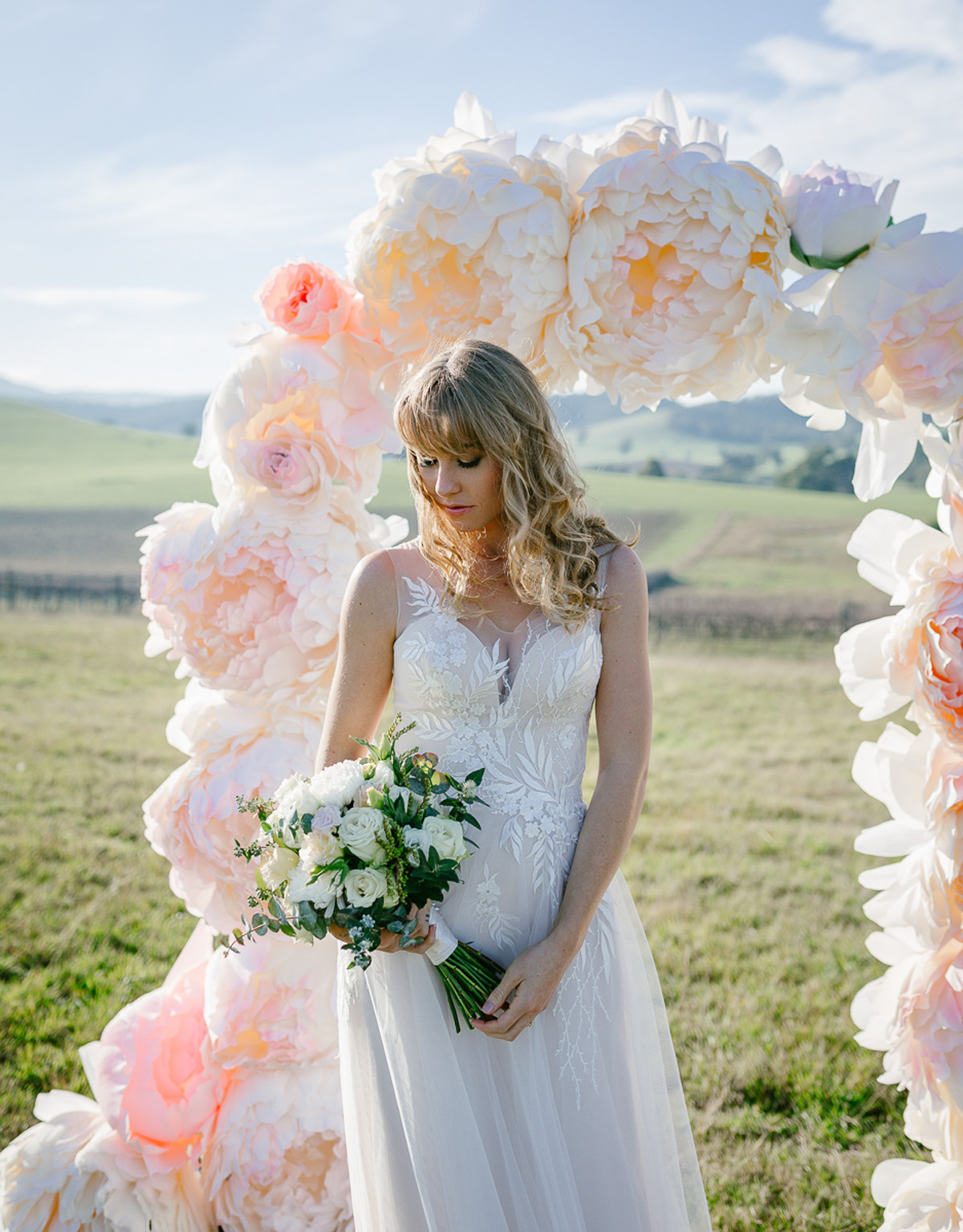 123718 whimsical florals fashion wedding editorial by lx creations