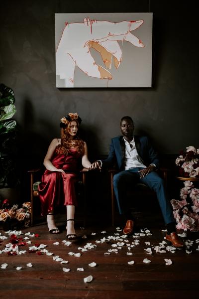 124768 moody avante garde winter wedding inspiration by samantha simone photography