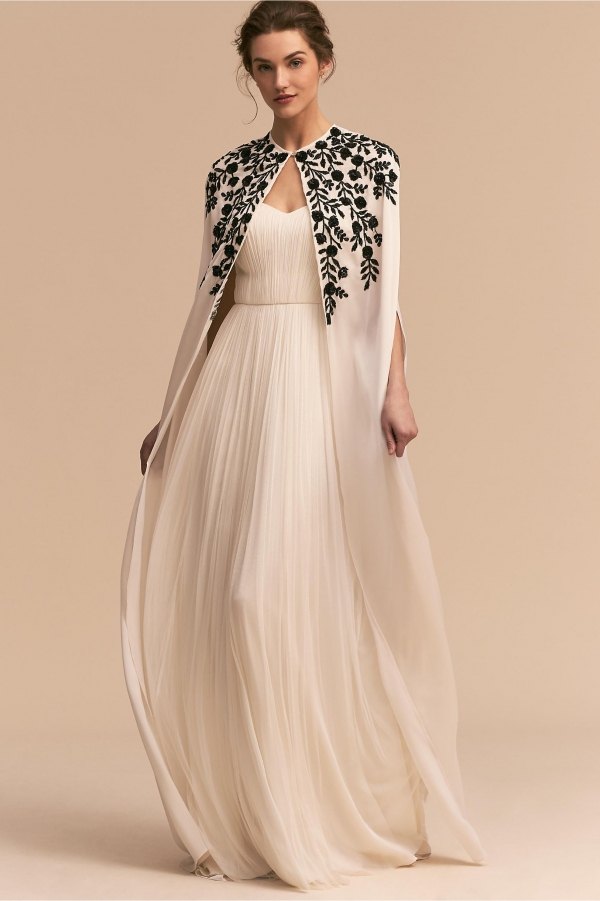 Embroidered Wedding Cape