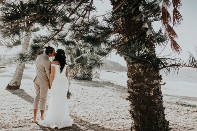 Elk and Fir Photography. Image via Lana and Lester's relaxed Yeppoon beach wedding.
