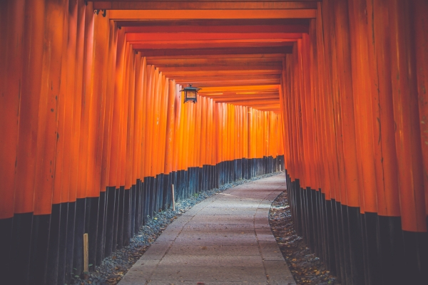 Torri gates at Fushima-Inari Taisha Shrine. Image via FancyCrave.com