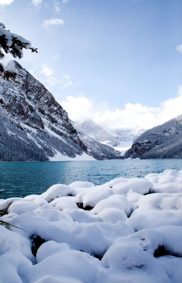 Lake Louise in the winter. Photo: Whitney Arnott.