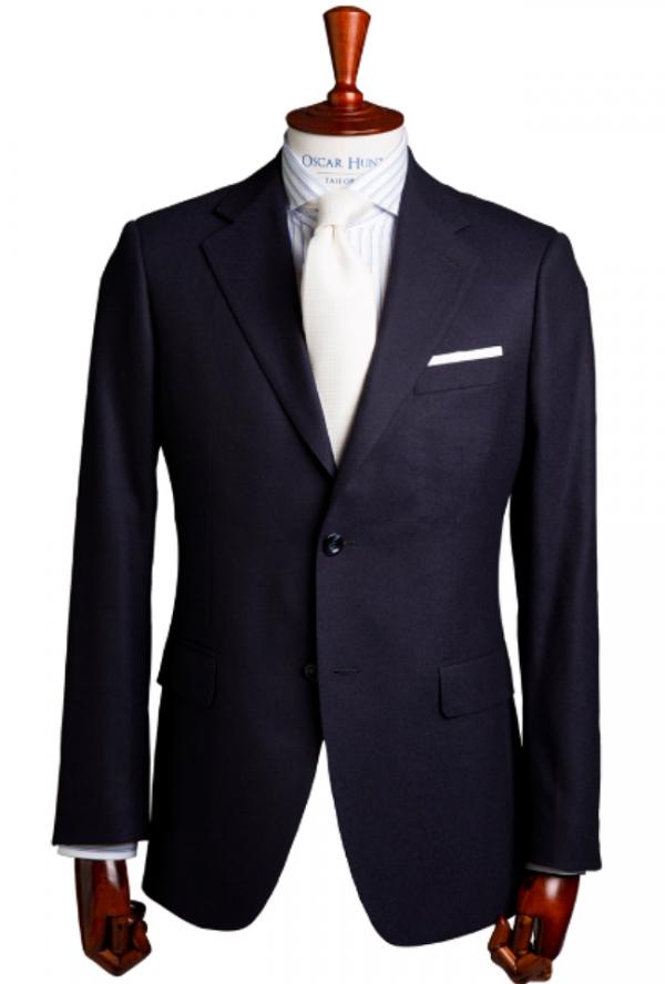 Oscar Hunt Midnight Navy flannel suit. Image: Oscar Hunt