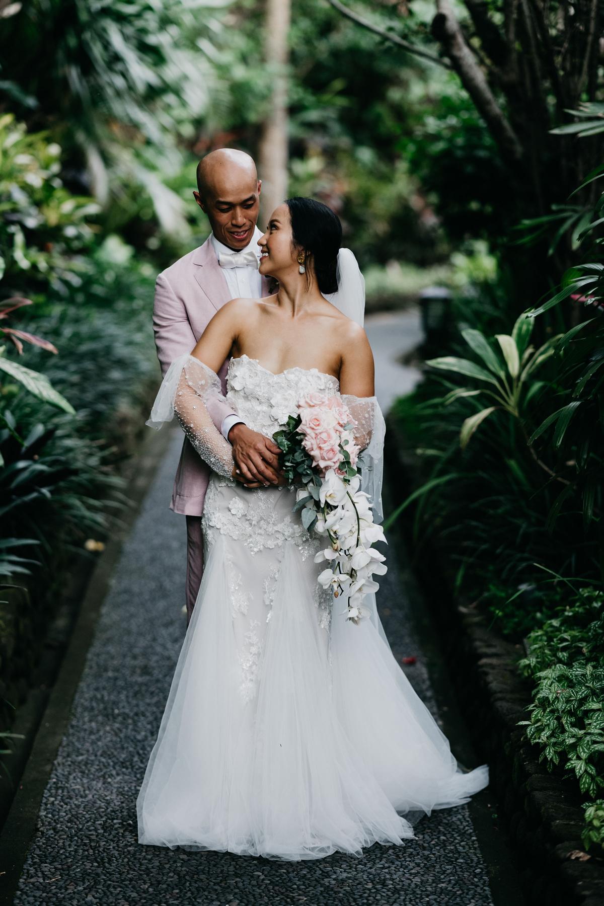Tropical Black Tie Bali Wedding At Royal Pita Maha Polka Dot Bride