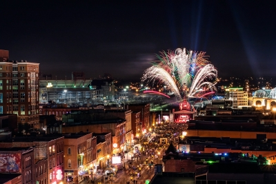 Image by Garrett Hill. Nashville: the music city.
