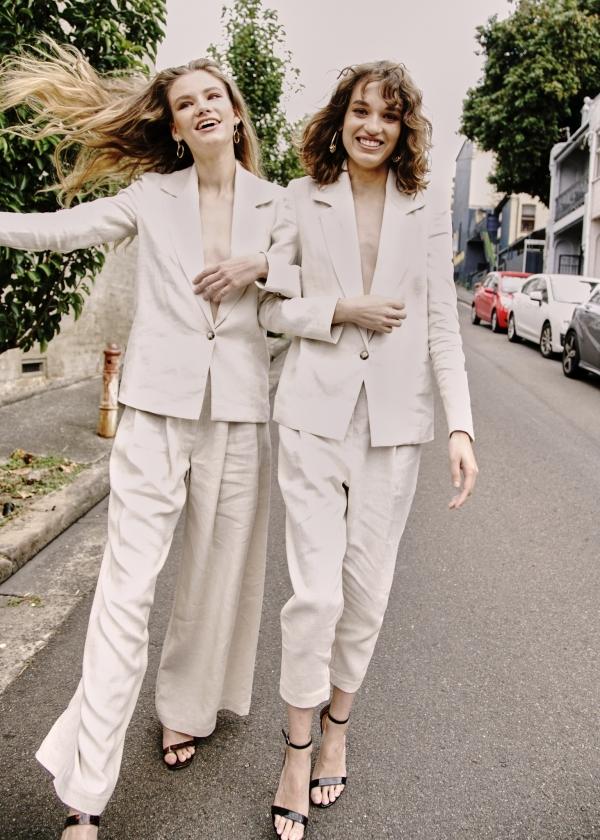 Designer Wedding Suits For Women Non Binary Polka Dot Wedding