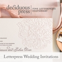 Deciduous Press Weddings banner