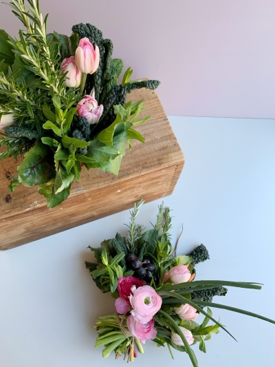 Edible Vegetable Herb Bouquet Tutorial Polka Dot Wedding Formerly Polka Dot Bride