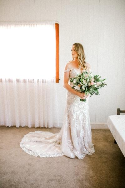 Elegant Flower Filled Vineyard Wedding Polka Dot Bride