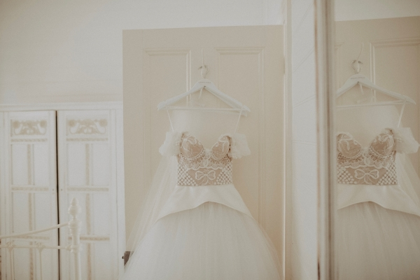 Wedding dress by Cappellazzo Couture