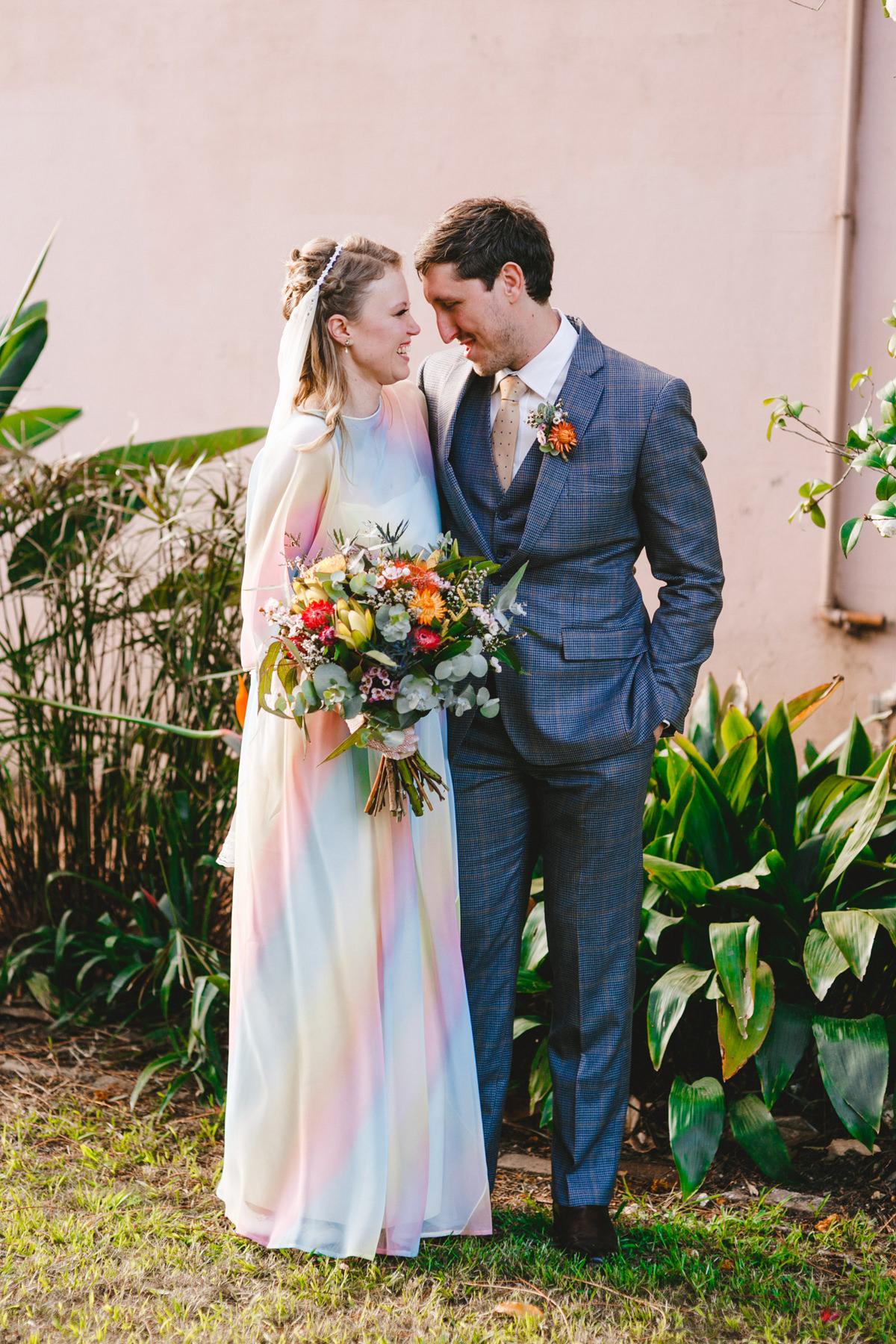 Handmade Rainbow Garden Wedding Polka Dot Bride