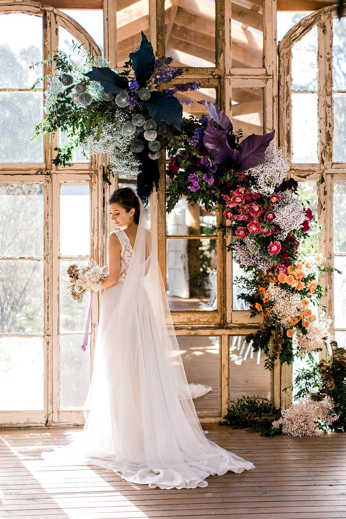 Romantic Rainbow Wedding Inspiration Polka Dot Bride