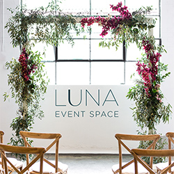 Luna event space Made banner