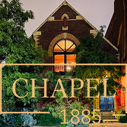 Chapel 1885 Weddings banner
