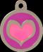 Heart Pink & Purple Pet Tag