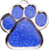 Blue Sparkle Large Paw Pet Tag