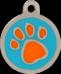 Pawprint Orange & Blue Pet Tag
