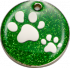 Green Glitter Paws Pet Tag