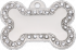 Poochy Small Bling Bone Pet Tag