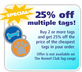 25% off multiple tags!