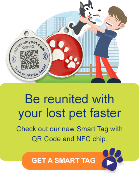 Be reunited with your lost pet faster - Get a Smart Tag