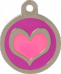 Heart Pink & Purple Pet Tag