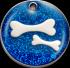 Blue Glitter Bones Pet Tag