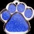 Blue Sparkle Large Paw Pet Tag