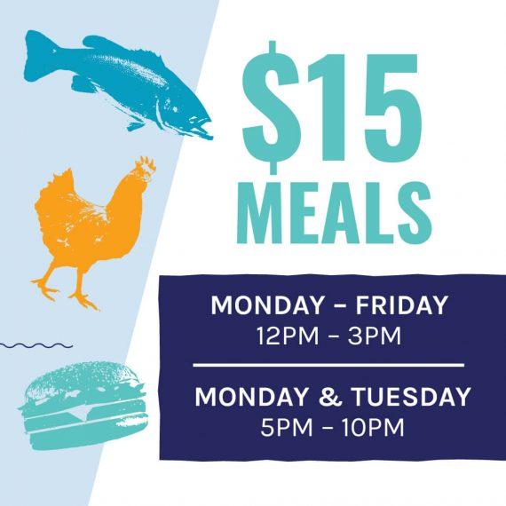 $15 meals