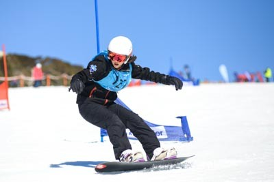 Division 3 Girls Snowboard GS Action Shots