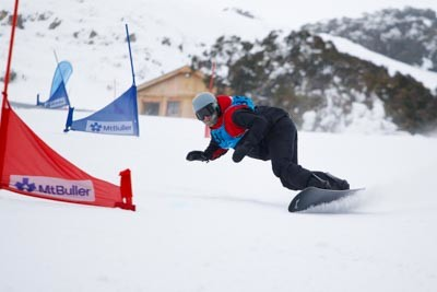 Division 1 Boys Snowboard GS Action Shots