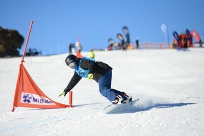 Division 2 Boys Snowboard GS Action