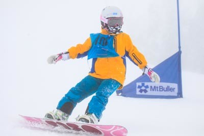 Division 4 Girls Snowboard GS Action